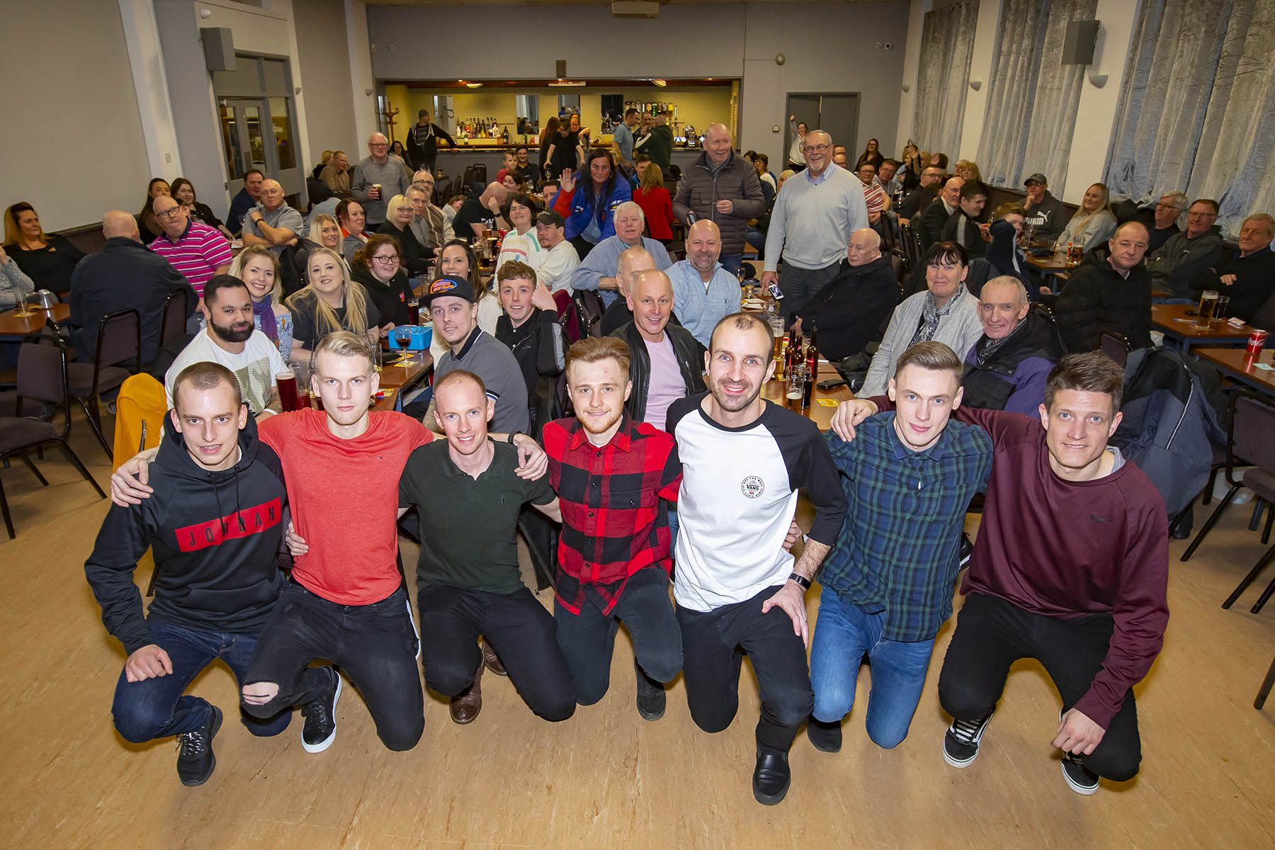 The Newcastle 2020 Diamonds in front of a packed South Gosforth Social Club