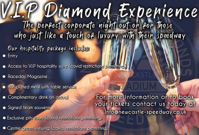 THE VIP DIAMOND EXPERIENCE – BOOK NOW!